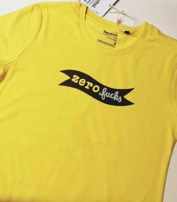 Zero Fucks øko t-shirt